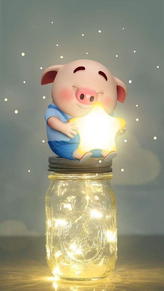 Hình Nền Diện Thoại Và Avatar Facebook Lợn Con Ủn Ỉn