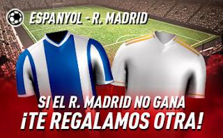 sportium promo Espanyol vs Real Madrid 28 junio 2020