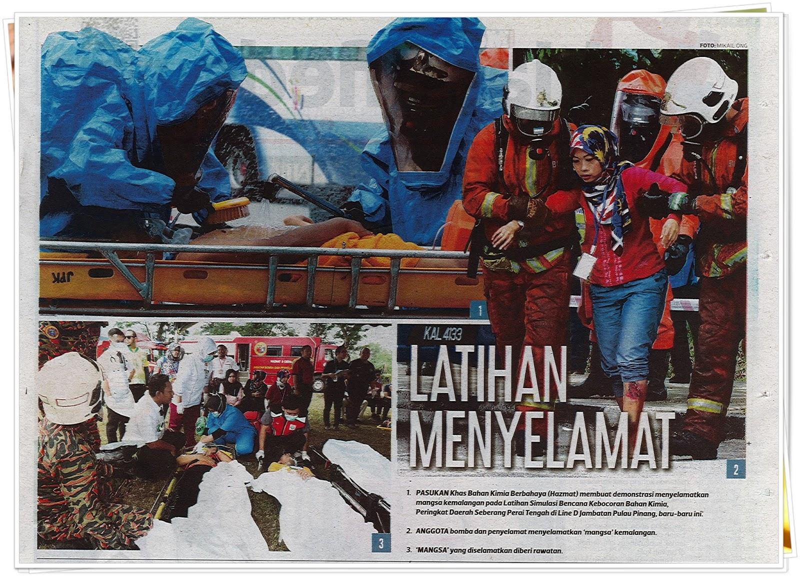 Lensa kamera : Latihan menyelamat - Keratan akhbar Harian Metro 5 November 2019