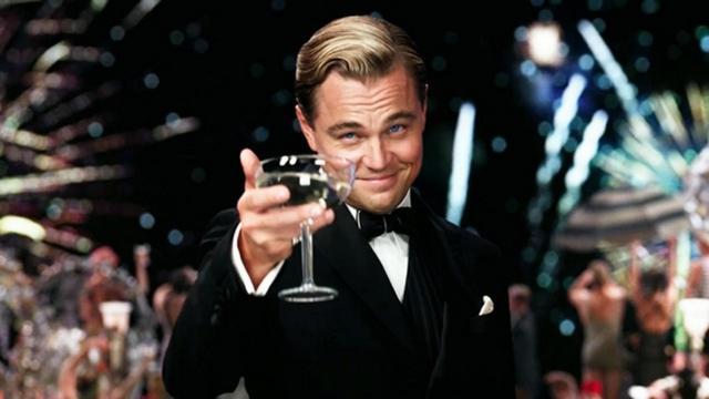 Leonardo DiCaprio, Jay Gatsby, F. Scott Fitzgerald, The Great Gatsby, public domain