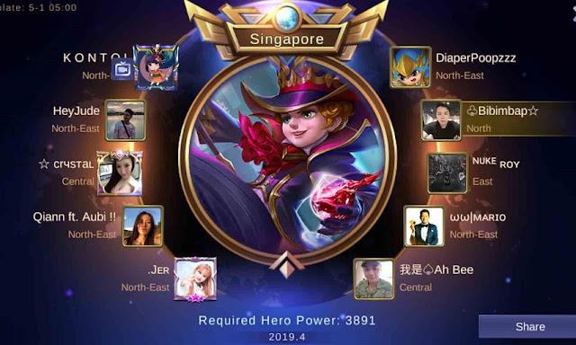 Title Hero Supreme di Mobile Legends Season 18