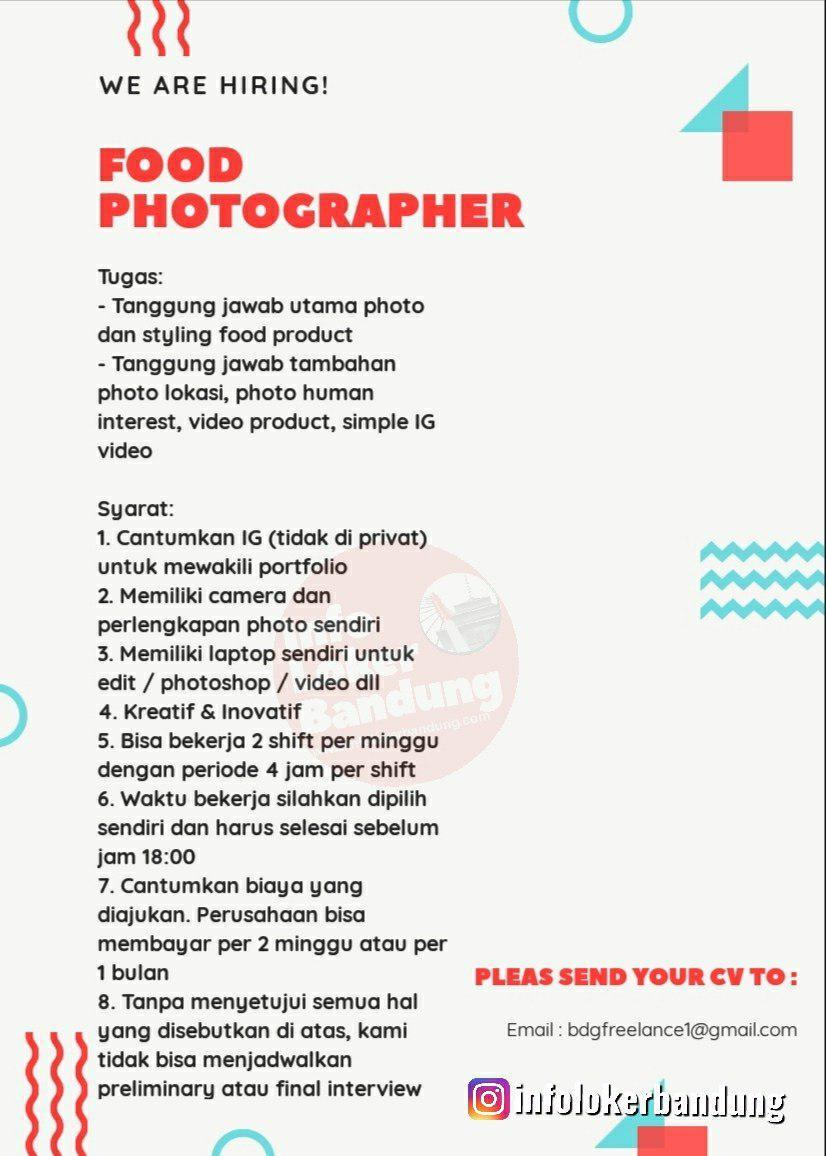 Lowongan Kerja Food Photograoger Bandung Oktober 2019