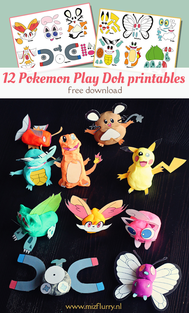 pokemon play doh printables pinterest