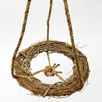 Easy Wreath Birdbath  - Step 1