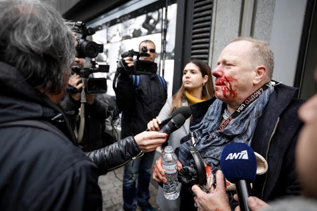 Επίθεση από φασίστες δέχθηκε δημοσιογράφος στο ακροδεξιό συλλαλητήριο στο Σύνταγμα