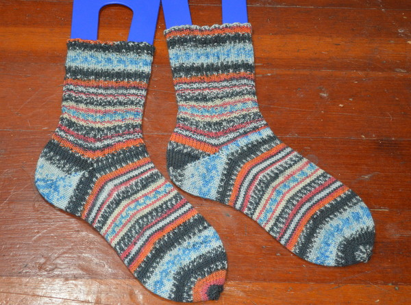 Handknit Socks -- Regia Arne & Carlos Fall Night