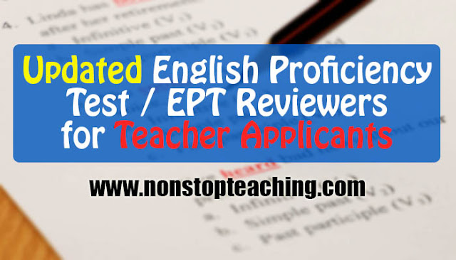 Updated English Proficiency Test / EPT Reviewers