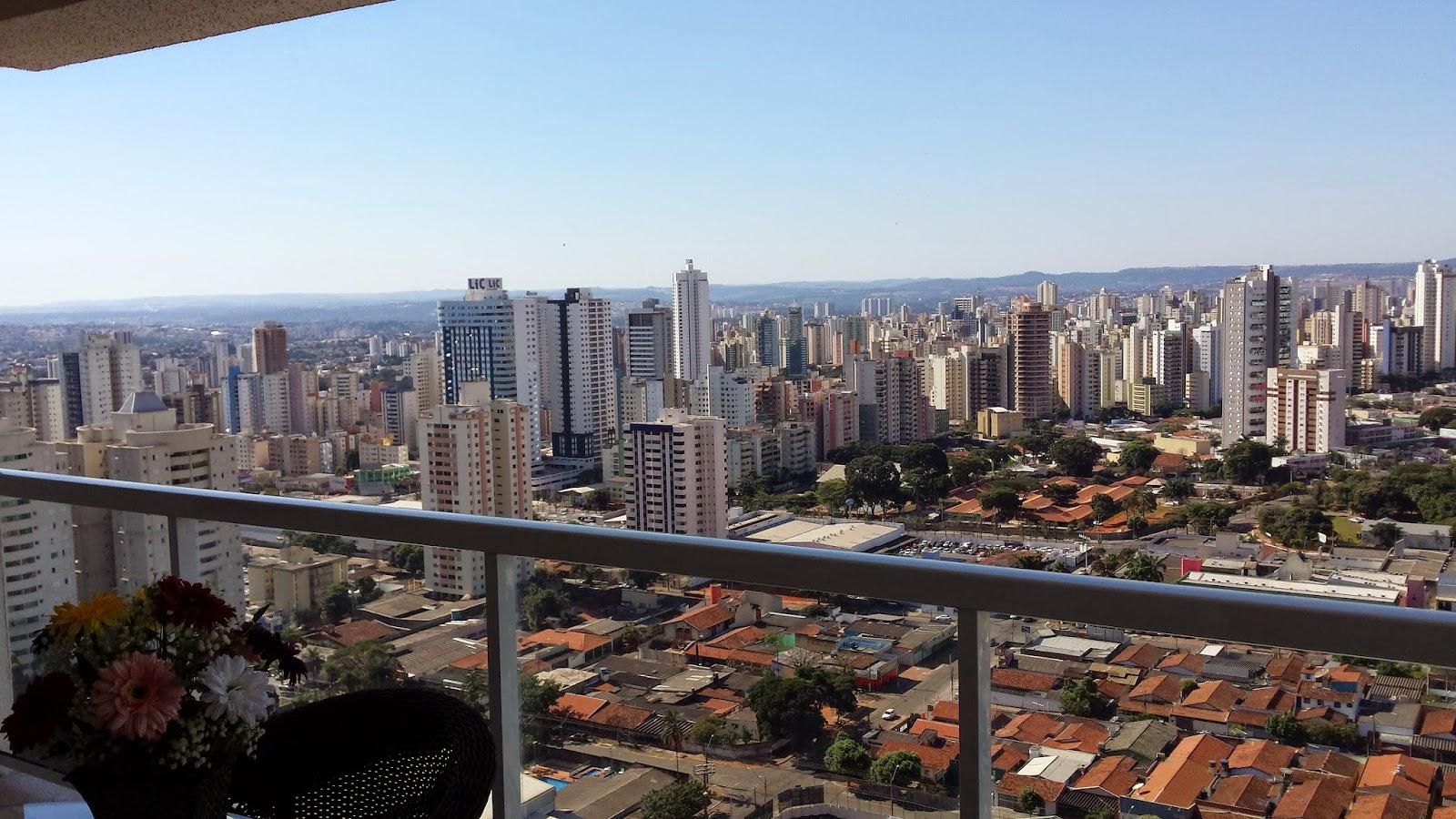 Setor Bueno, Goiânia, Vista de apartamento, nas alturas