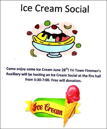 6-28 Ice Cream Social, Ulysses Fire Hall