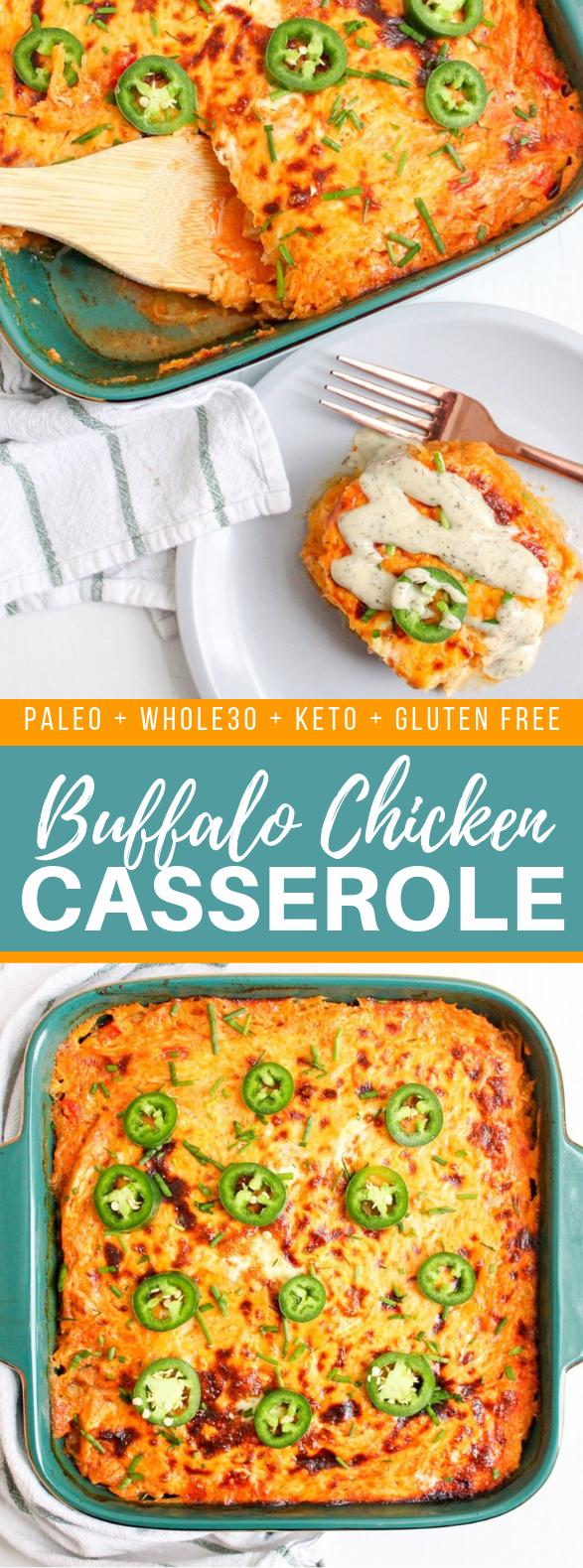 BUFFALO CHICKEN CASSEROLE – PALEO/WHOLE30 #healthy #diet