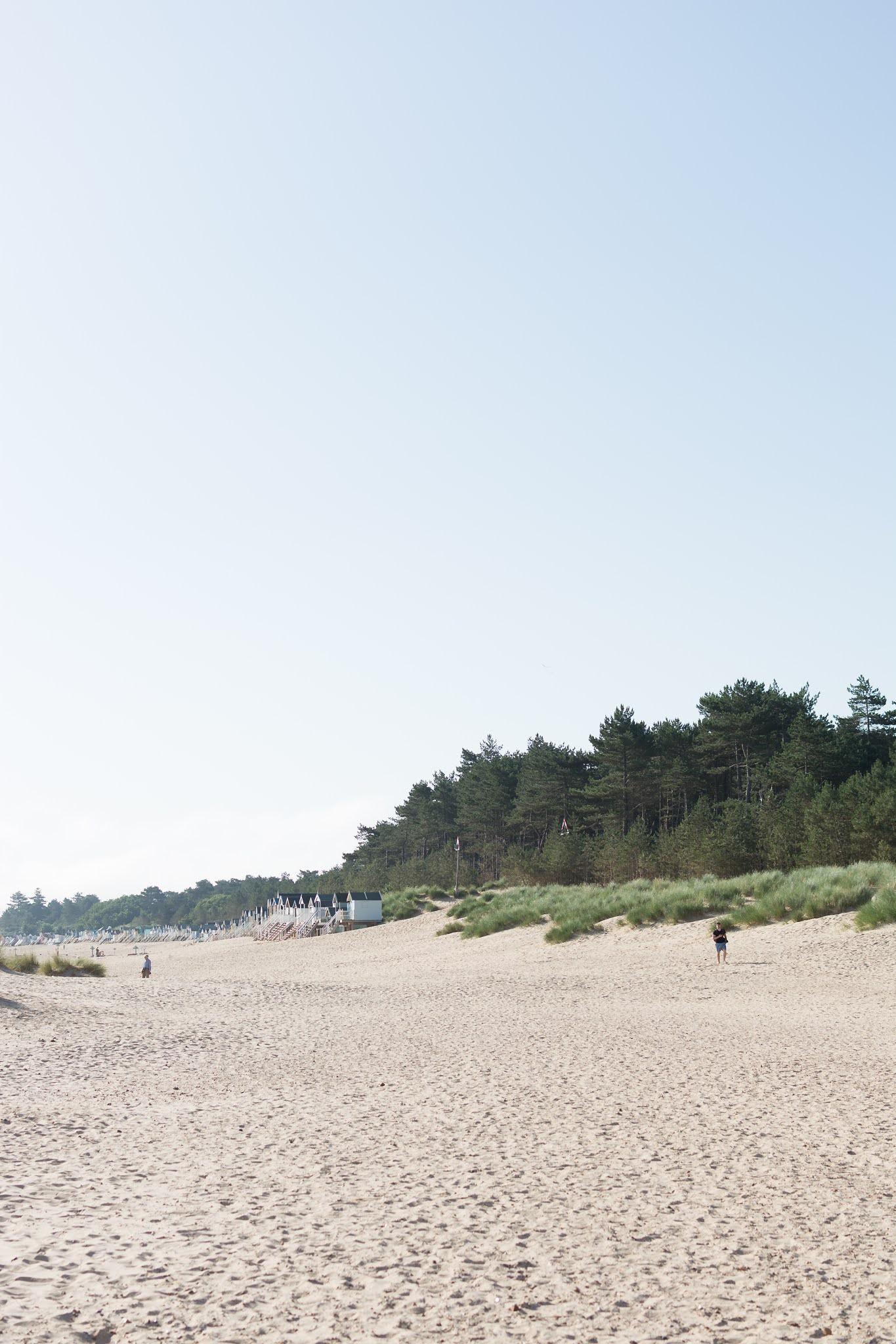 Wells next the sea beach in Norfolk