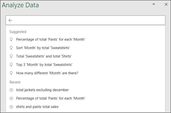 تحليل البيانات المقترحة والأسئلة الأخيرة