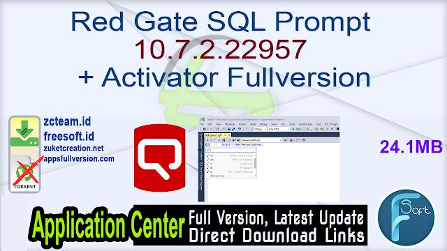 Red Gate SQL Prompt 10.7.2.22957 + Activator Fullversion