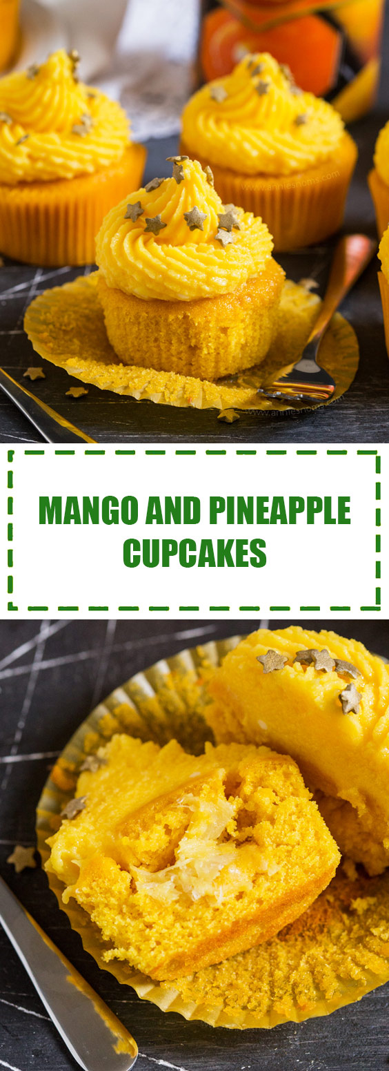 Mango and Pineapple Cupcakes