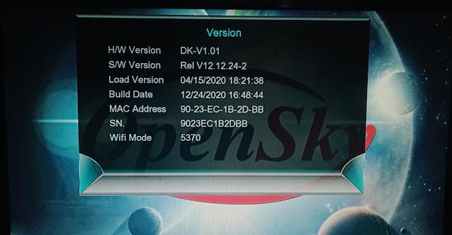 OPENSKY MINI HD124B PLUS & HD125B PLUS 1507G 1G 8M NEW SOFTWARE 24 DECEMBER 2020