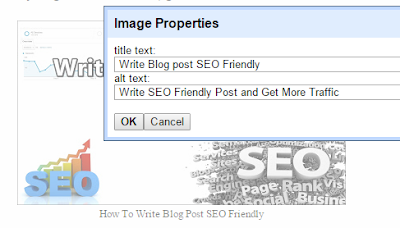 set the properties of your picture in blog