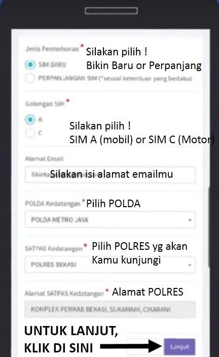 Surat Izin Mengemudi Sim Online Contoh Cara Registrasinya Pakar Dokumen