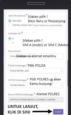 daftar surat izin mengemudi sim online - step 3