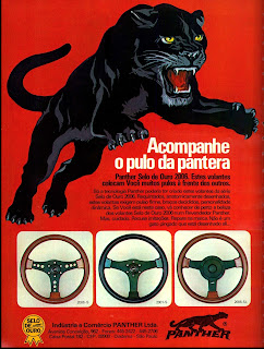 propaganda volantes Panther - 1976.  brazilian advertising cars in the 70. os anos 70. história da década de 70; Brazil in the 70s; propaganda carros anos 70; Oswaldo Hernandez;