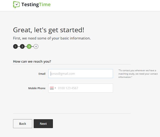 موقع testing time