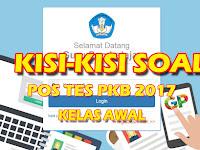Kisi-kisi Soal Post Tes PKB 2017 Kelas Awal Modul A Pedagogik dan Profesional