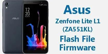 Asus ZenFone Lite L1 (ZA551KL) Flash File Stock ROM Firmware