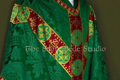 Green Gothic Revival vestments