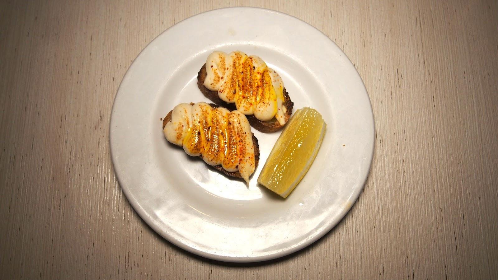 Cod's Roe on toast