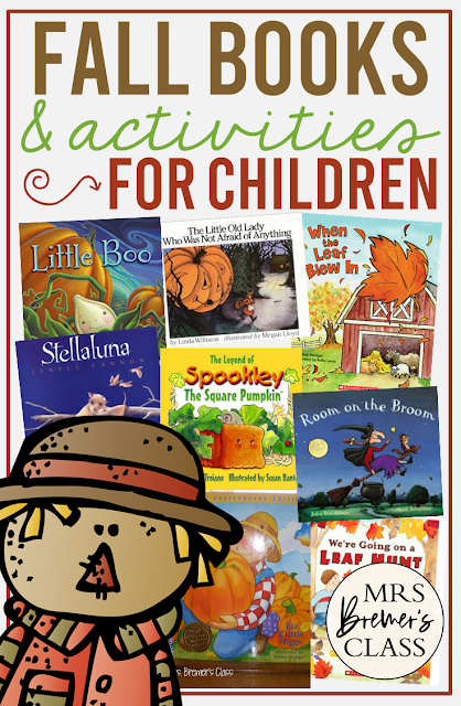Favorite fall books for kids, with companion activities and book study resources for each one! Packed with fun literacy ideas and guided reading activities for K-2. Common Core aligned. #fall #autumn #picturebookactivities #bookstudy #kindergarten #literacy #1stgrade #2ndgrade #guidedreading #bookstudies