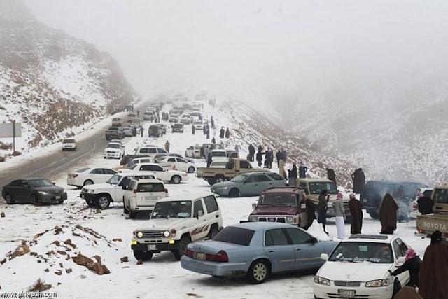 Fenomena Turun Salju Dinegara Arab