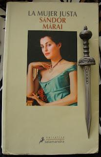 Portada del libro La mujer justa, de Sándor Márai