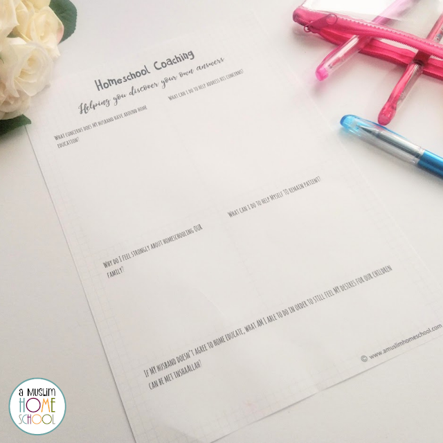homeschool coaching printable - when your husband doesn't want to homeschool but you do