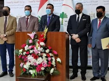 وزير الصحة والبيئة حسن التميمي يعلن عن ارتفاع إعداد الاصابات بفايروس كورونا
