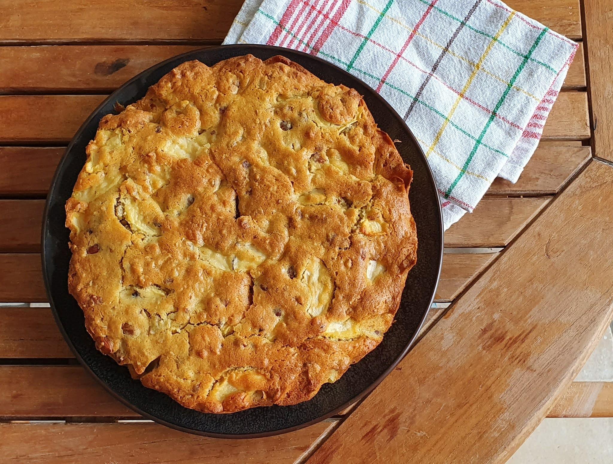 recette de gateau aux pommes et aux noisettes