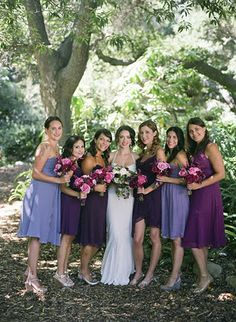 Purple Demand Mismatched Bridesmaid Dresses  b147d68f8