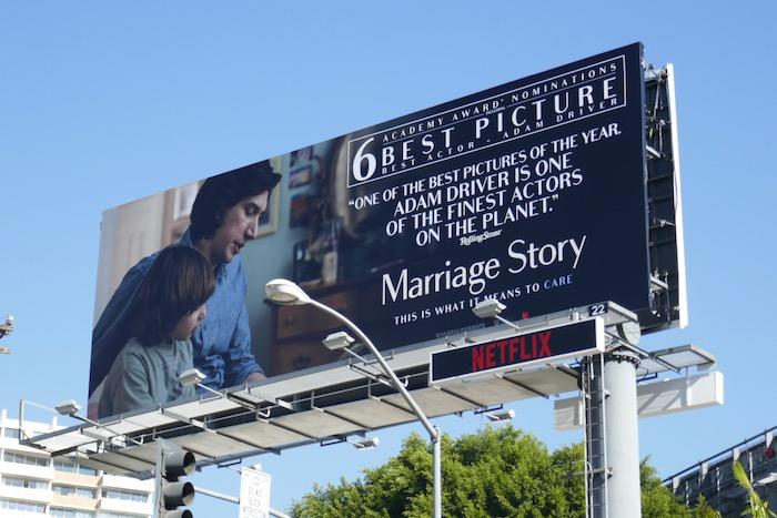 Marriage Story 6 Academy Award nominations billboard