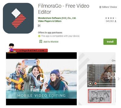 FilmoraGo juga menawarkan efek video sedia ada yang lawa
