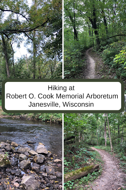 Hiking along  the Ice Age National Scenic Trail in the Robert O. Cook Memorial Arboretum in Janesville, Wisconsin