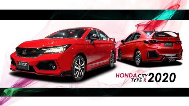Honda City với bản độ biến thành Civic Type R và NSX