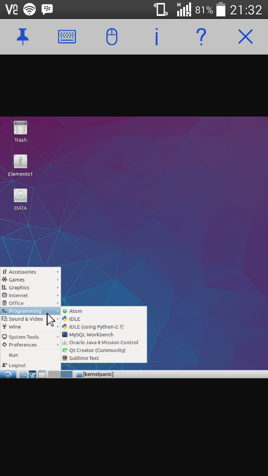 How to remote desktop Lubuntu with android phone - tutorials