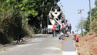 Pemkab Purwakarta Tuntaskan Pembangunan 10 KM Jalan, Pengairan dan Jembatan, Dimasa Pandemi