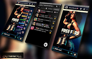 Free Fire Girls Theme For YOWhatsApp & Fouad WhatsApp By Nanda