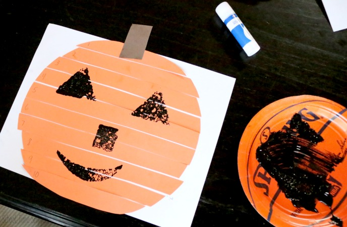 painted pumpkin puzzle craft