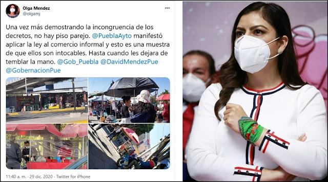 "A Claudia Rivera ""le tiembla la mano"" con los ambulantes: Canirac"