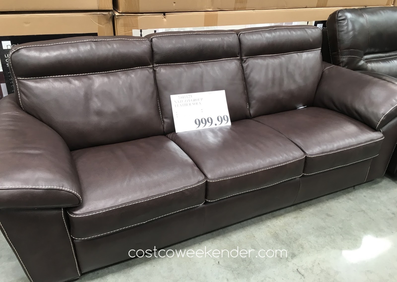Lounge Around Or Take A Nap On The Natuzzi Group Leather Sofa