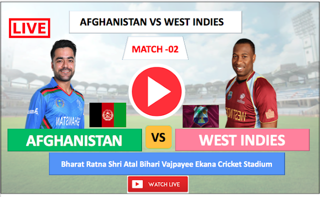 Watch Live match  Afghanistan vs  West Indies- 2nd  One day match , 2019