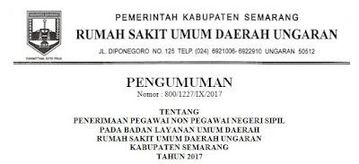 Penerimaan Pegawai Non Pegawai Negeri Sipil Pada Badan Layanan Umum Daerah Rumah Sakit Umum Daerah Ungaran Kabupaten Semarang Tahun 2017