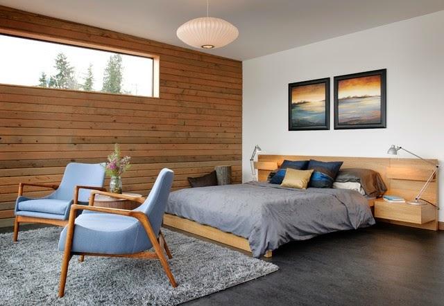 cuarto paredes de madera