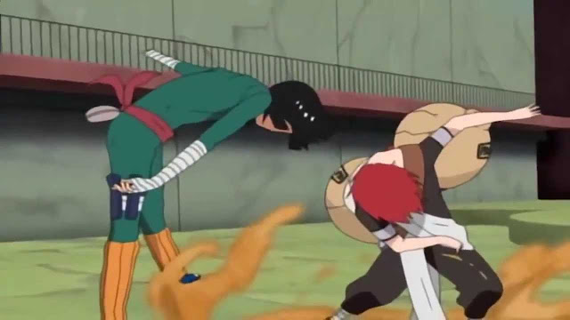 Gaara Vs. Rock Lee