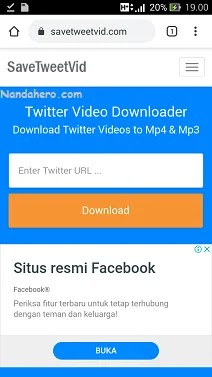 save video twitter lewa pc laptop